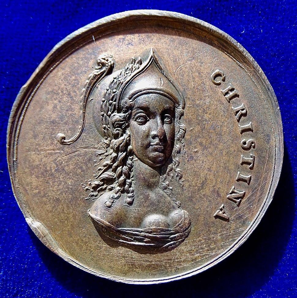 Sebastian Dadler Original Medal N.D. (1648), Christina of Sweden, Peace of Westphalia. Obverse.jpg
