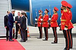 Secretary Kerry Shakes Hands with U.S. Ambassador Kelly, his Wife, and other Dignitaries at the Tbilisi International Airport in Georgia (27510409024).jpg