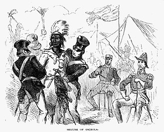Fort Peyton - Capture of Osceola near Fort Peyton by US troops