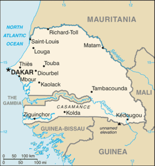 Cartina Fisica Senegal.Geografia Del Senegal Wikipedia
