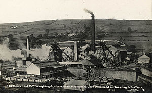 Coal industry in Wales - Senghenydd Universal Colliery, site of a major accident in 1913