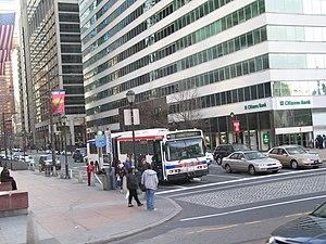 Market Street (Philadelphia) - Eastbound Market Street approaching 15th Street