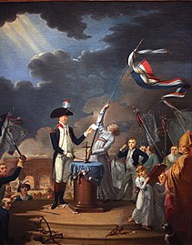 Painting of Lafayette at a ceremony