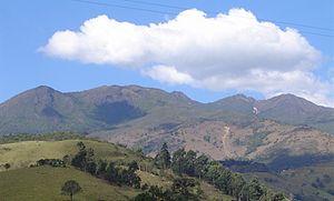 Parte da Serra da Mantiqueira em Passa-Quatro, Minas Gerais.