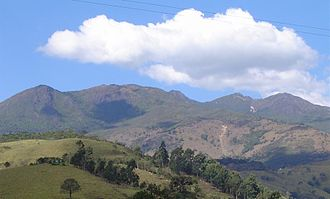 Mantiqueira Mountains - The range as seen from Passa Quatro