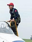Shen, Zheng-YU, ROCAF Major, Pilot of Thundertigers AT-3 0835 Leaving Cockpit 20161126.jpg