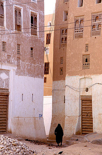 High-rise building - These tower blocks were built in Shibam, Yemen in the 16th century, and are the tallest mudbrick buildings in the world, some more than 30 meters (100 feet) high