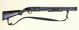 Riot shotgun shotgun designed or modified for use as a primarily defensive weapon, by the use of a short barrel and sometimes a larger magazine capacity than shotguns marketed for hunting