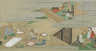 Rouleau sur les mérites comparés du saké et du riz