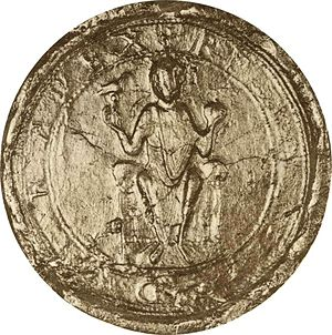 Rudolf of Rheinfelden - Royal seal of Rudolf, 1079