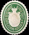 Siegelmarke Alfred Fürst zu Windisch-Graetzsches Secretariat W0210619.jpg