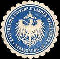 Siegelmarke K. Universitäts und Landes - Bibliothek - Strassburg W0216068.jpg