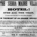 Sierra Madre Villa advertisement 1886.png