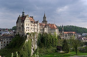 Sigmaringen Castle - Schloss Sigmaringen from the north east