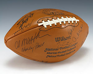 1975 Green Bay Packers season - A football signed by the 1975 Green Bay Packers