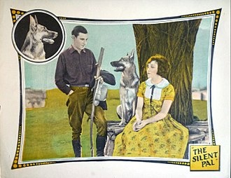 Eddie Phillips (actor) - Lobby card with Eddie Phillips and Shannon Day in The Silent Pal (1925)