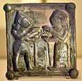 Silver plate showing a cult scene. 9th-7th century BCE. From Sam'al, Turkey. Pergamon Museum.jpg
