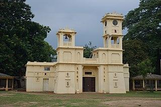 Shantiniketan neighbourhood in Bolpur, Birbhum, West Bengal, India