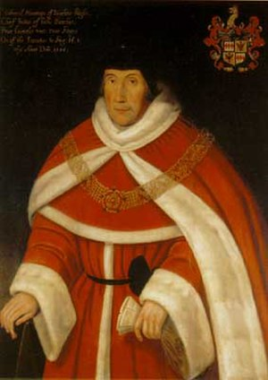 Lord Chief Justice of England and Wales - Image: Sir Edward Montagu