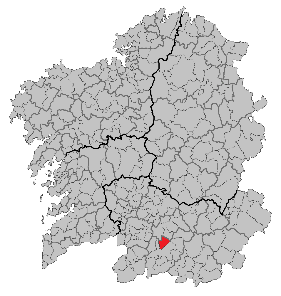 Situation of Sandiás within Galicia