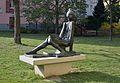 Sitzendes Mädchen by Hans Knesl, Wienerbergstraße 14 (01).jpg