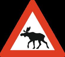 Cartello stradale norvegese
