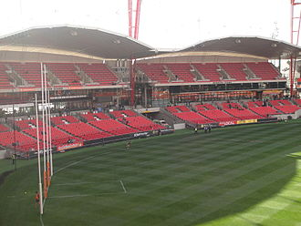 Sydney Showground Stadium - The Members and Suttor stands at the southern end of the stadium.