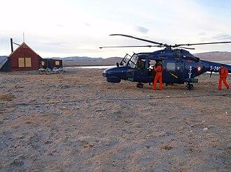 Sirius Dog Sled Patrol - The base at Daneborg in 2008