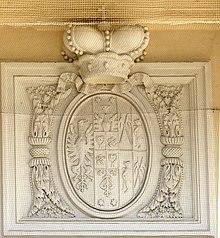 Wappen des Wenzel Anton von Kaunitz (1789), Auferstehungskirche in Austerlitz (Slavkov/Tschechien) (Quelle: Wikimedia)