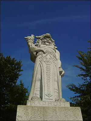 Radhošť - Sculpture of god Radegast