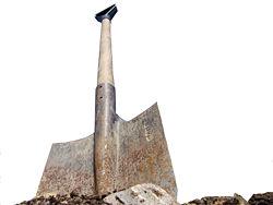 A spade