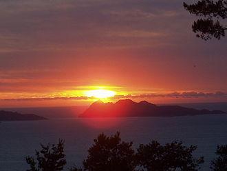 Saint Amaro - Sunset in the Western Galicia coast.