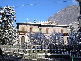 Sondrio - The library of Villa Quadrio.