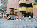 Songshan Ciyou Temple 260th Anniversary Memorial Clock Tower with Mazu and Botchan Pop-ups 20131227.jpg