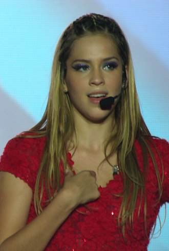 Sophia Abrahão discography - Sophia Abrahão performing at a concert with Rebeldes in 2012.