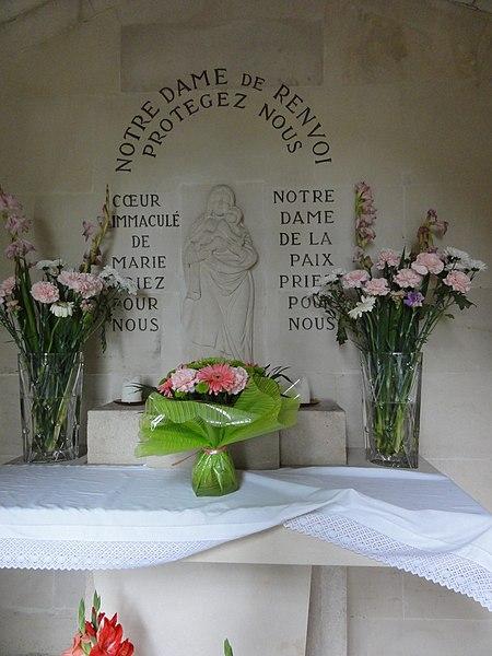 Sorcy-Saint-Martin (Meuse) chapelle du Chana, intérieur
