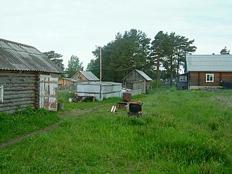 Karelian question - Countryside houses. A picture from Sortavala.