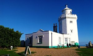 South Foreland Lighthouse - Image: South Foreland Lighthouse back