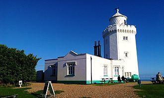 South Foreland Lighthouse - Image: South Foreland Lighthouse back