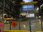 Space Shuttle Discovery in NASA's VAB