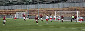FC Zbrojovka Brno (women) - Brno (in white shirts) against Sparta