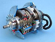 Planetengetriebe in einer Fahrradnabe mit 14 Gängen (Speedhub 500/14).