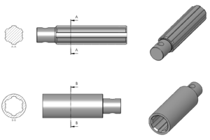 Spline-shaft section