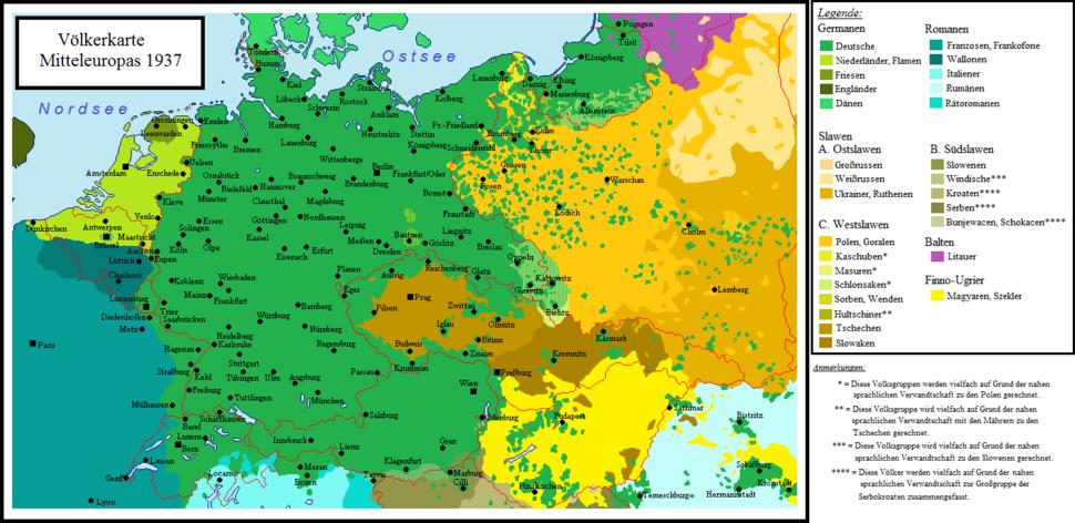 Sprachenkarte Mitteleuropas (1937)