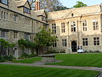 St. Edmund Hall Front Quad, Including North Range and Chapel.JPG