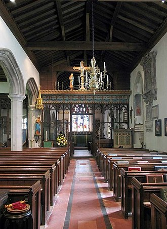 South Mimms - Interior of St Giles' Church, South Mimms