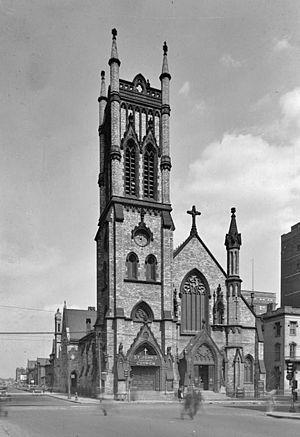 St. John's Episcopal Church (Detroit, Michigan) - St. John's Episcopal Church in 1934