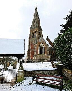 Stratfield Mortimer farm village in the United Kingdom