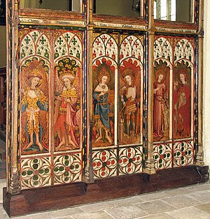 St Michael and All Angels Church, Barton Turf - Right choir screen