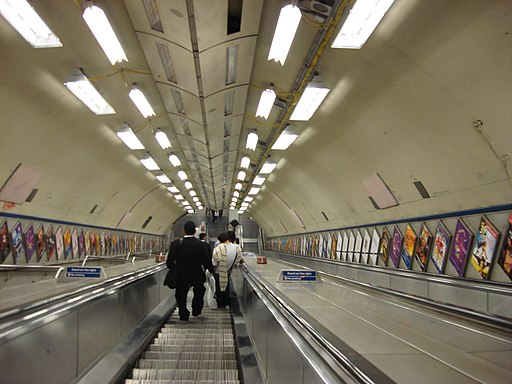 St Pauls tube escalators